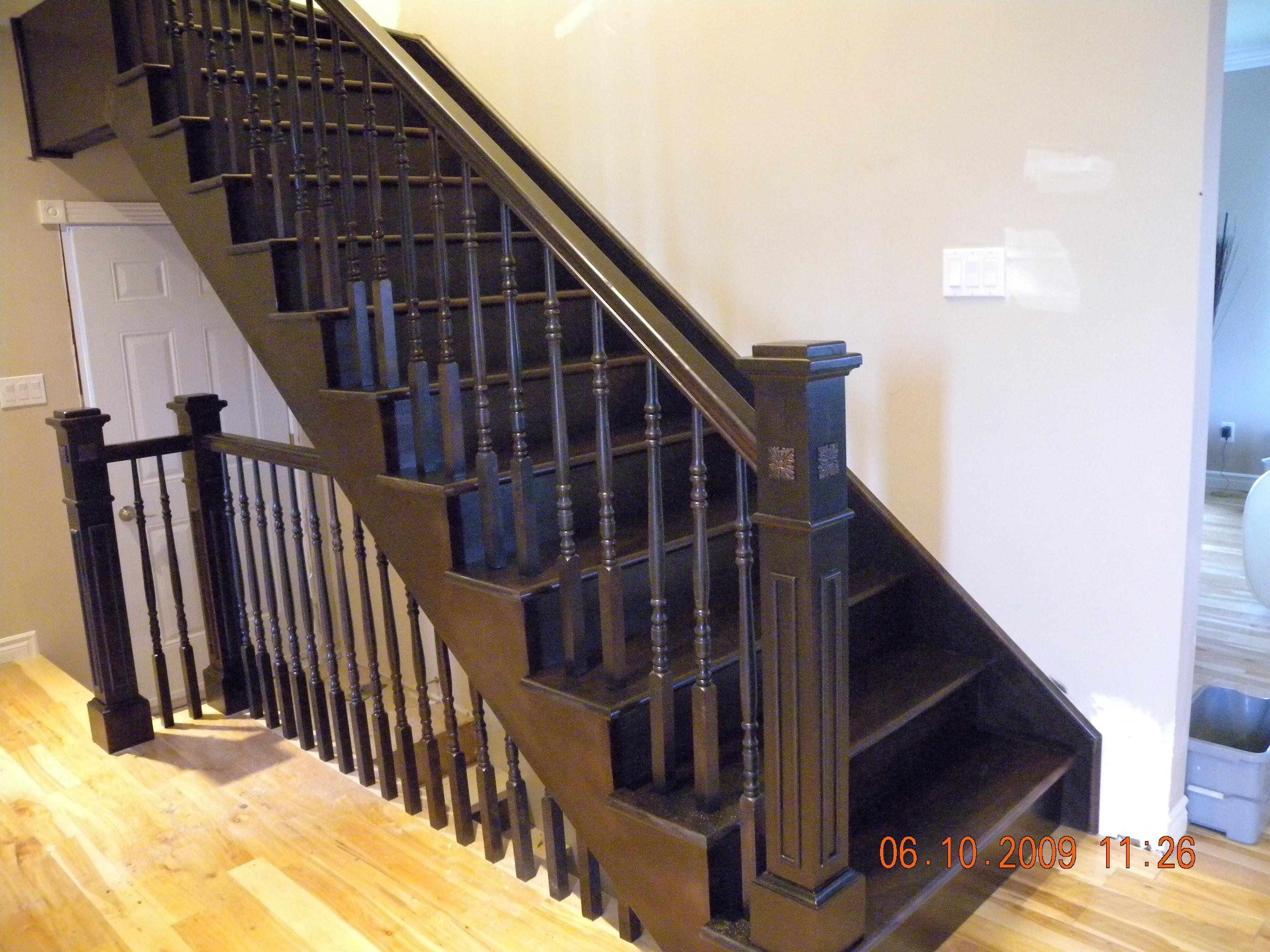 R alisations d 39 escaliers - Boule d escalier en bois ...